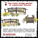 tms rustic bridge with watercolor flowers