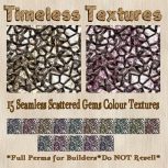 TT 15 Seamless Scattered Gems Colour Timeless Textures