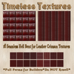 TT 16 Seamless Hell Bent for Leather Crimson Timeless Textures