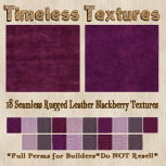 TT 18 Seamless Rugged Leather Blackberry Timeless Textures
