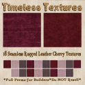 TT 18 Seamless Rugged Leather Cherry Timeless Textures