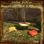 UI Hookah with Table & Pillows