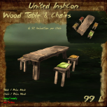 UI Wood Table & Chairs