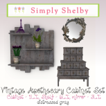 Vintage Apothecary Cabinet Set gray