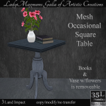 35L Sun LadyM's Mesh Occasional Square Table - Navy