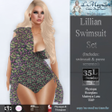 35L Sun LMagnums Lillian Swimsuit Set - Floral 1 - Olive