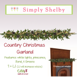 Country Christmas Garland