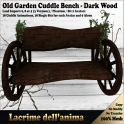 (PIC) Old Garden Cuddle Bench - Dark Wood