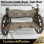 (PIC) Old Garden Cuddle Bench - Light Wood