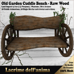 (PIC) Old Garden Cuddle Bench - Raw Wood