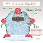 Simply Shelby Candy Cane Gate