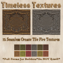 TT 12 Seamless Ornate Tile Fire Timeless Textures