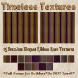 TT 15 Seamless Elegant Ribbon Rose Timeless Textures