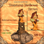 UI Treestump Birdhouse Brown