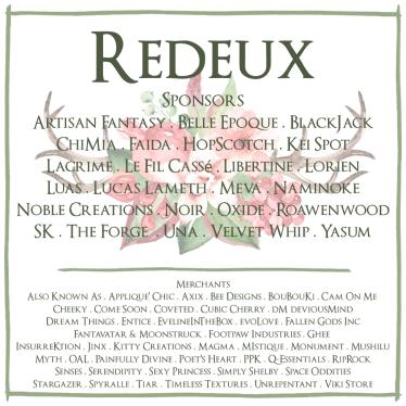 Redeux December Merchants