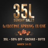 Welcome Spring Event Mar 14-21