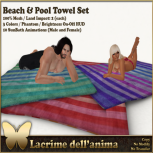 (PIC) Beach & Pool Towel Set
