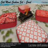 (PIC) Cali Mood Cushion Set - Coral
