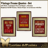 (PIC) Vintage Frame Quotes - Set