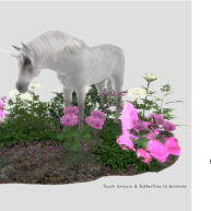 Simply Shelby Enchanted Unicorn Garden pink