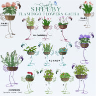 simply shelby flamingo flower gacha