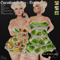 [UNC] Caroline Dress - Fruits