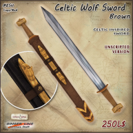 AD Celtic Wolf Sword Brown UNSCRIPTED
