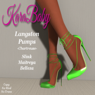 AD-Langston Pumps- Chartreuse
