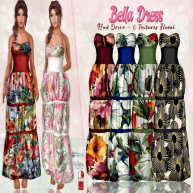 DM__Bella Dress Floral Maitreya - Slink Belleza