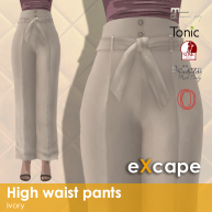 High waist pants ivory vendor rea