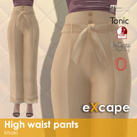 high waist pants khaki vendor rea