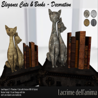 (PIC) Elegance Cats & Books - Decoration