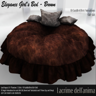 (PIC) Elegance Girl's Bed - Brown