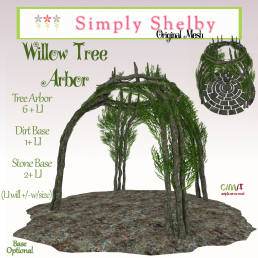 Simply Shelby Willow Tree Arbor - fall version also avail