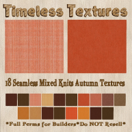 TT 18 Seamless Mixed Knits Autumn Timeless Textures