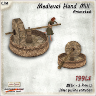 AD_Medieval Hand Mill - Animated