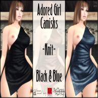 ELTD Adored Girl -Knit- Black & Blue PIC