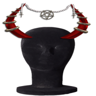 MM Demonic Horn display horn red