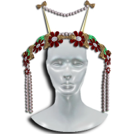 MOEKO Aina Midsummer Headdress Red & Gold