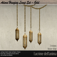 (PIC) Adara Hanging Lamp Set - Gold