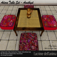 (PIC) Adara Table Set - Amethyst