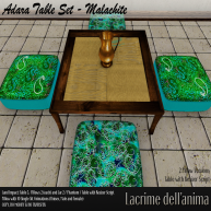 (PIC) Adara Table Set - Malachite