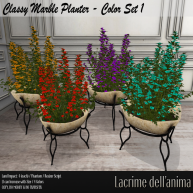 (PIC) Classy Marble Planter - Color Set 1