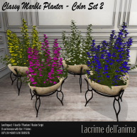 (PIC) Classy Marble Planter - Color Set 2