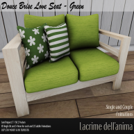 (PIC) Douce Brise Love Seat - Green