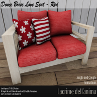 (PIC) Douce Brise Love Seat - Red