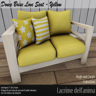 (PIC) Douce Brise Love Seat - Yellow