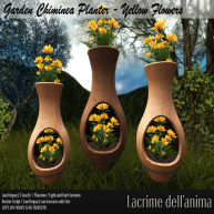 (PIC) Garden Chiminea Planter - Yellow Flowers