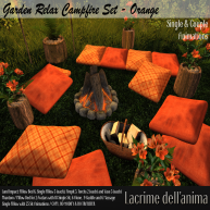 (PIC) Garden Relax Campfire Set - Orange