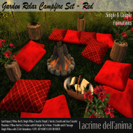 (PIC) Garden Relax Campfire Set - Red